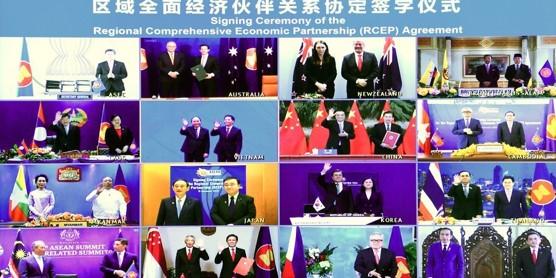 """עם סין וללא ארה""""ב: מדינות אסיה חתמו על הסכם הסחר הגדול בעולם"""