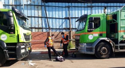 ההרוג ה-66 בתאונת עבודה: עובד עיריית חיפה שנמחץ בני שתי משאיות
