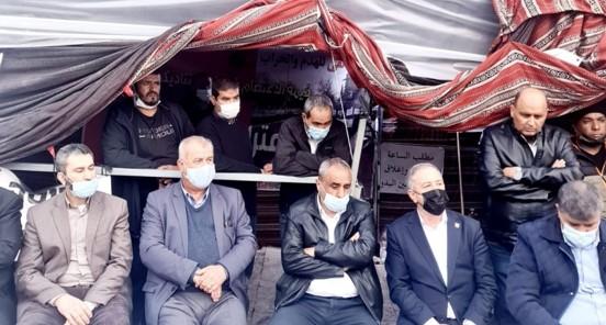 """אוהל מחאה של נבחרים ערבים-בדואים בי-ם: ועדת המעקב תקיים הפגנה מול משרד רה""""מ"""