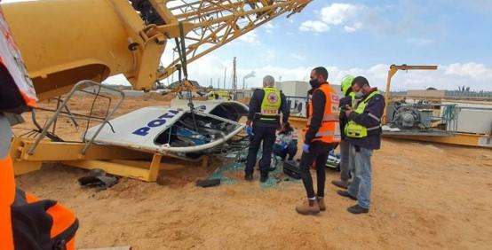 ההרוג החמישי בתאונות בניין: מנוף קרס באור עקיבא ועובד בן 45 נהרג