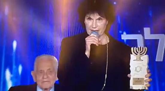 שלילת פרס ישראל מפרופ' גולדרייך: זוכת הפרס מיכל בת אדם מחתה במהלך הטקס