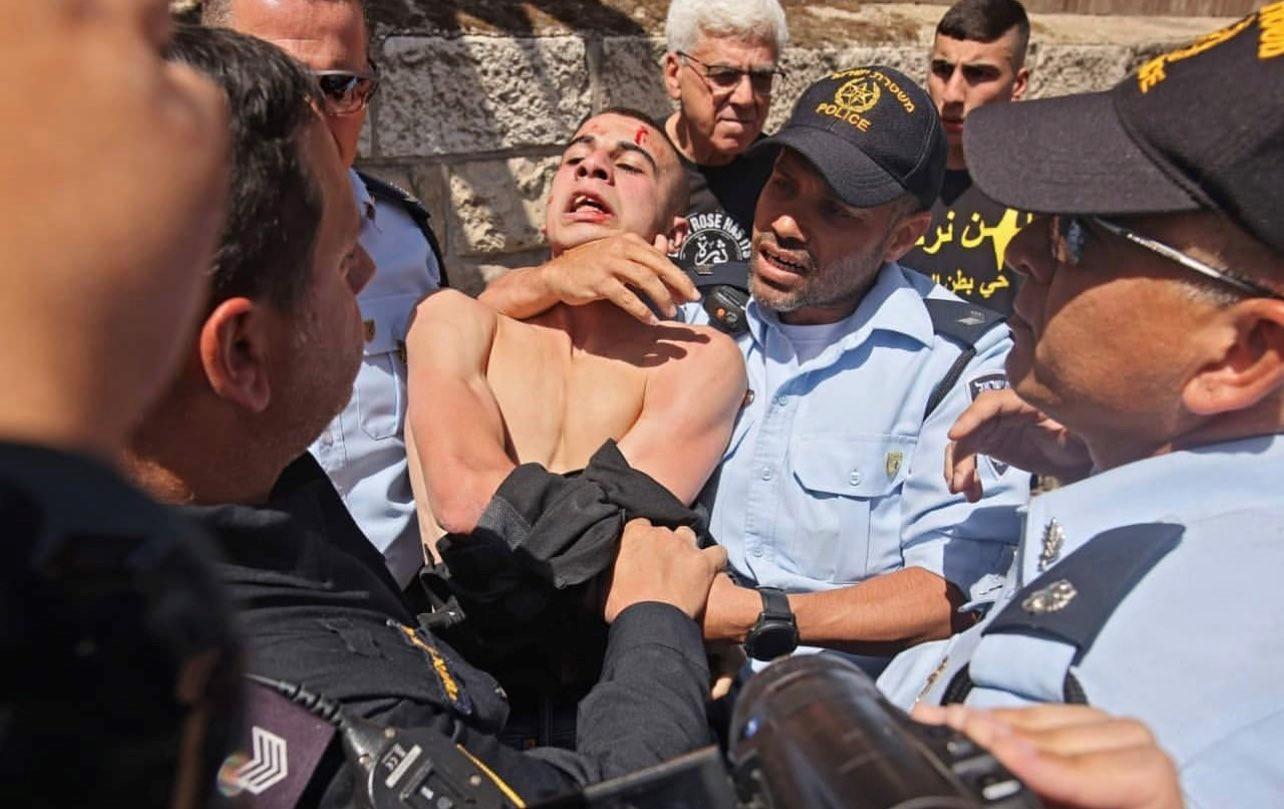 שני מפגינים נעצרו בעת דיון בבית המשפט בי-ם על גורל בתיהן של שבע משפחות פלסטיניות