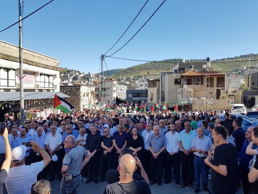 אלפים ציינו בסכנין את יום הנכבה; ברכה: לא נסכים לשוב לימי הממשל הצבאי