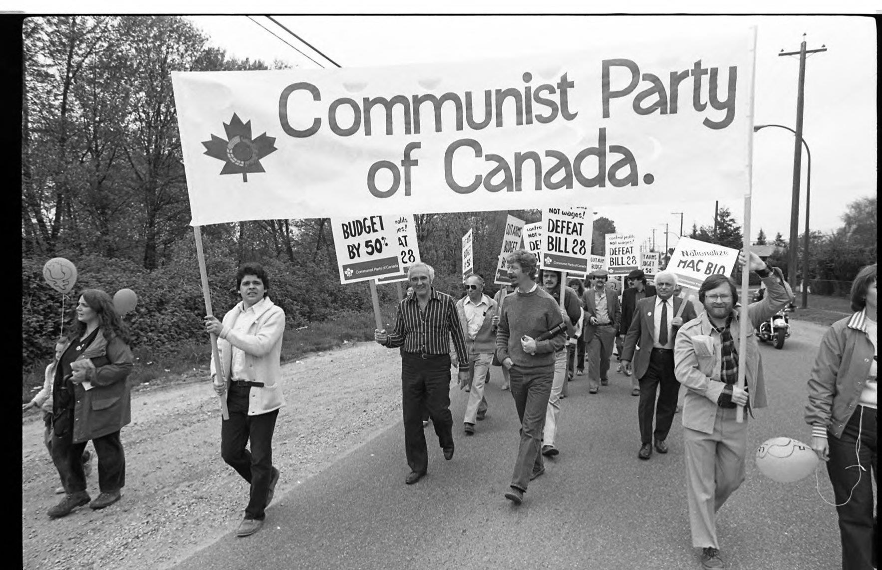 """28 במאי 1921 קמה מפלגת האחות של מק""""י ; המפלגה הקומוניסטית הקנדית"""