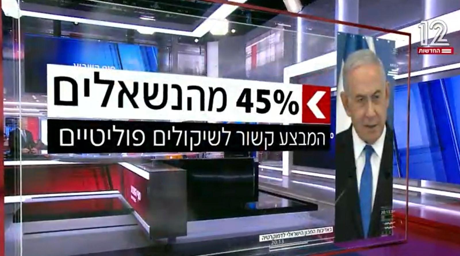 """סקר בחירות בערוץ 13: המשותפת מתחזקת ורע""""מ לא עוברת את אחוז החסימה"""