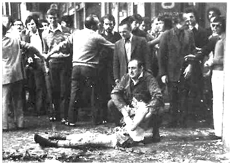 פיצוץ בכיכר לוג'יה בעיר ברשיה במחוז לומברדי באיטליה; 28 במאי 1974 בזמן מחאה אנטי פאישטסית