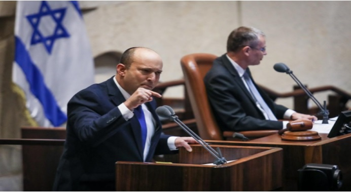 """סיעת חד""""ש הצביעה נגד ממשלת הימין החדשה של בנט ובעד יו""""ר הכנסת החדש"""