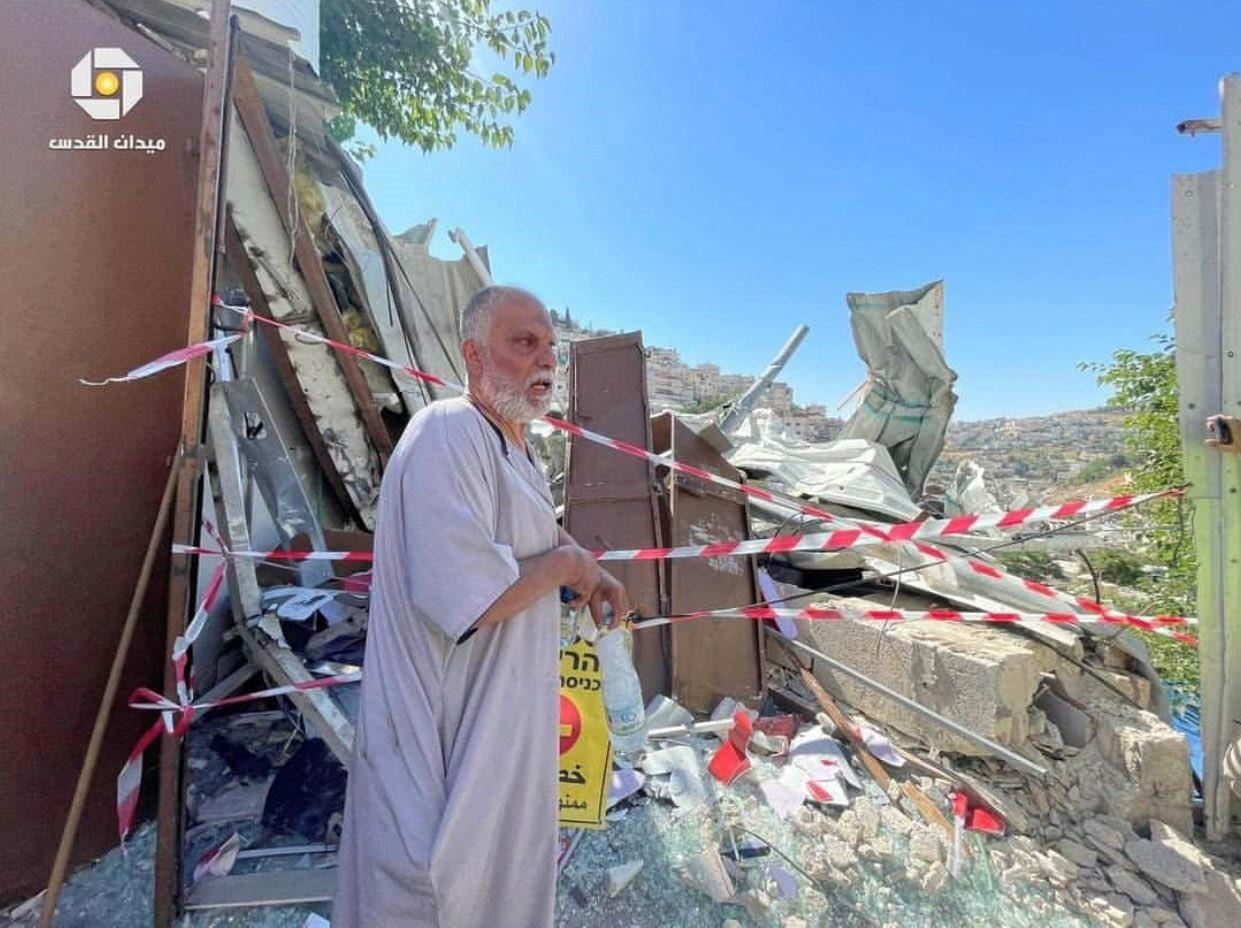"""עימותים פרצו בעת הריסת חנות בסילוואן; חד""""ש י-ם: נמשך הטיהור האתני בירושלים המזרחית"""