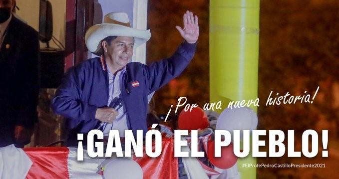 מועמד השמאל בבחירות לנשיאות פרו הוכרז כמנצח חודש וחצי לאחר הבחירות