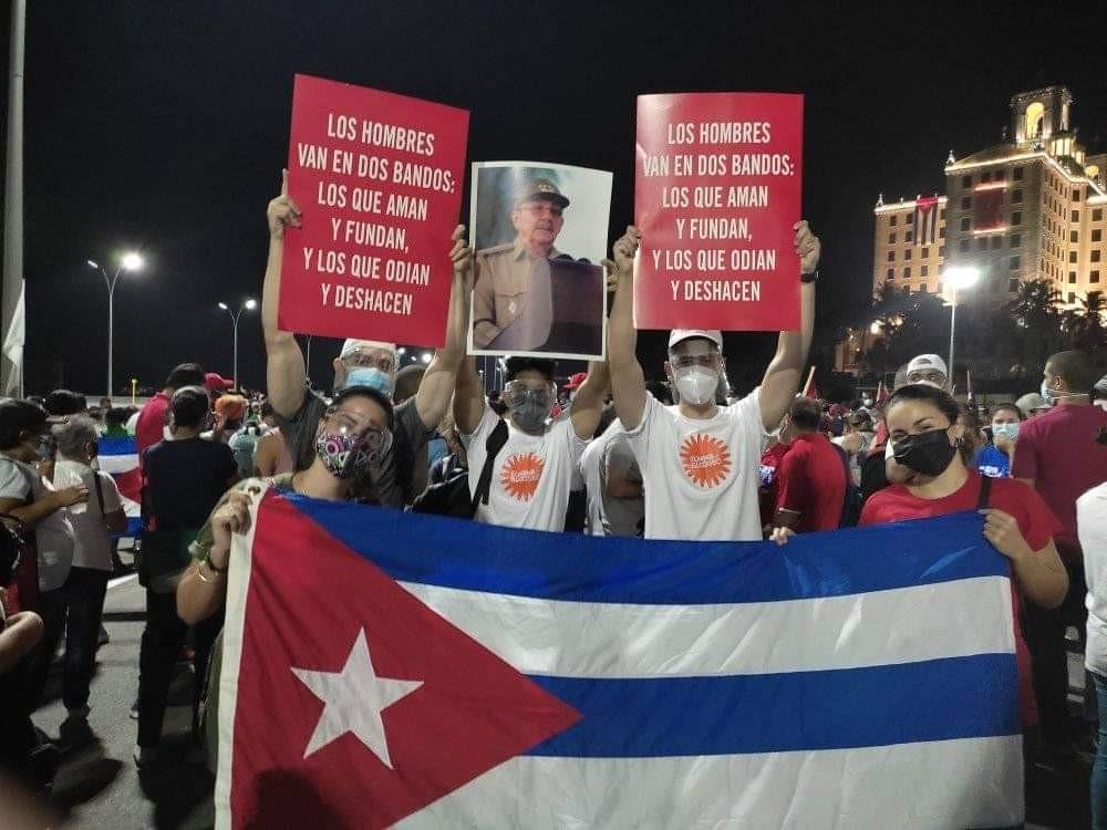 בהשתתפות ראול קסטרו: מאות אלפים הפגינו בקובה להגנת המהפכה והסוציאליזם