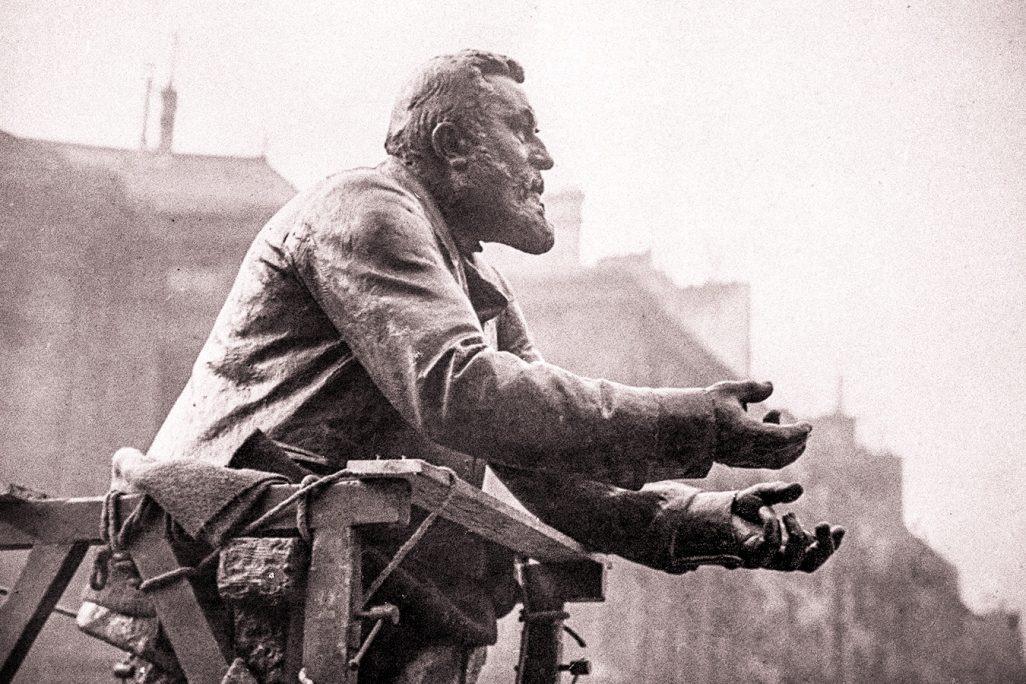 ז'אן ז'ורס ממנהיגי הסוציאליסטים הצרפתים נרצח ב-31 ביולי 1914 על ידי לאומן צרפתי