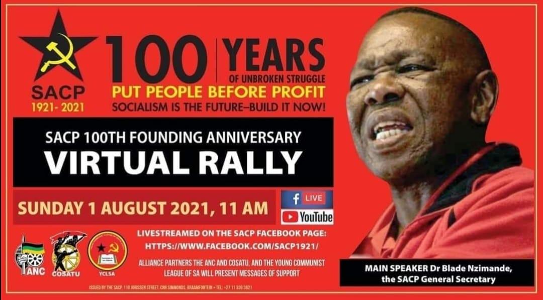 מאה שנים להקמת המפלגה הקומוניסטית הדרום אפריקאית ; מאבק מתמשך להפלת משטר האפרטהייד