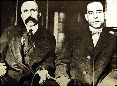 סאקו וונצטי, צמד אנרכיסטים איטלקים – אמריקאים הוצאו להורג ב-23 באוגוסט 1927 ; רדיפה פוליטית מזוקקת
