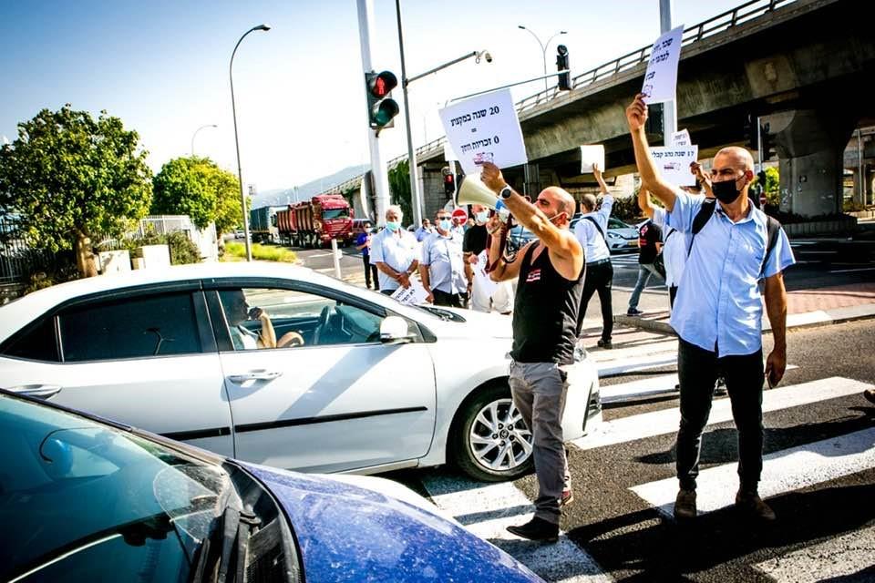 הפגנת נהגים בירושלים לקראת השביתה הארצית של ועדי התחבורה הציבורית של כוח לעובדים